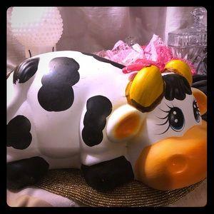Cow piggy bank